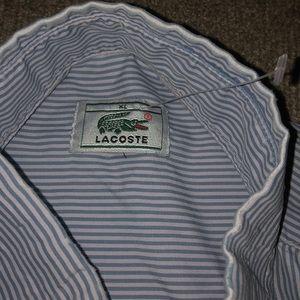 Lacoste Shirts - Lacoste men's button down short sleeve size XL